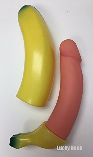 Man's Sexy Squirting Pecker Penis Banana Prank Toy Funny Bachelorette Bachelor Fraternity Sorority Adult Birthday Party Gag Gift + Free Lucky Donk Sticker