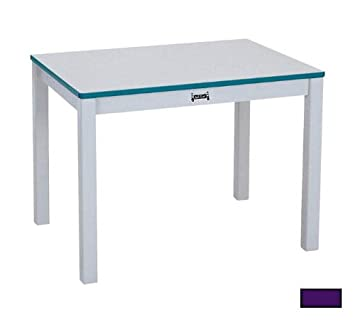 Amazon.com: Rainbow Rectangular Activity Table Side Finish ...