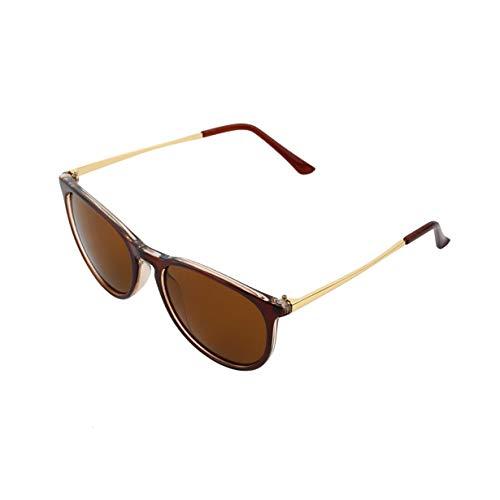 marque UV400 Mens Womens Eye de Brown lunettes rétro élégant rondes soleil classique lunettes Vintage Unisexe mode Designer Cat Fw0xHqZ