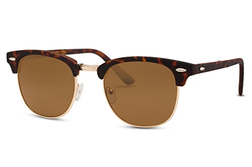 Cheapass Clubmaster Sunglasses Brown Folding-Glasses UV400 - Clubmaster Folding Sunglasses
