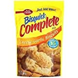 Betty Crocker Bisquick Complete Cheese-Garlic Biscuit Mix, Just Add Water! 7.5 Oz. = 6 to 8 Biscuits (2 Pack)