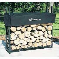"3' Firewood Rack - 1/8 Cord Capacity (Black) (3'H x 3'W x 10""D)"