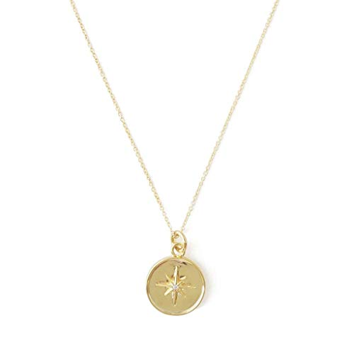 HONEYCAT Starburst Pendant Necklace in Gold, Rose Gold, or Silver | Minimalist, Delicate Jewelry (Gold)