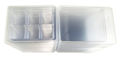 Wax Tart Clamshell Mold with Tight Lid Clear Plastic 6 Cubes Cavity 2.75 oz - 12 ()