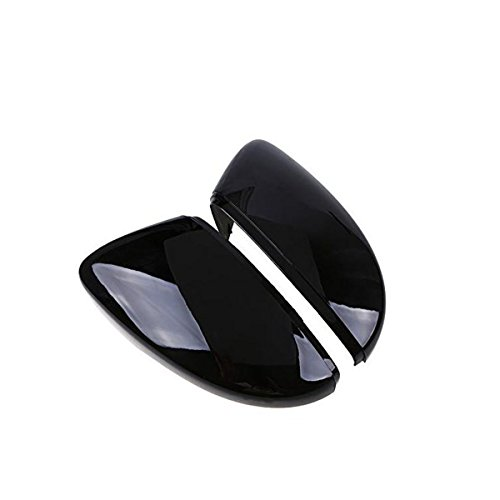 (CoCocina 2 Pcs Rear View Wing Mirror Covers Caps For VW Beetle CC Eos Passat Jetta Scirocco)