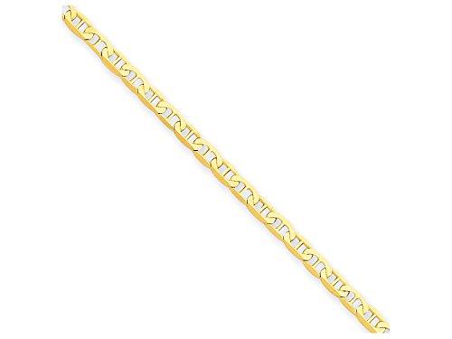 10-Inch-14k-Polished-2mm-Anchor-Link-Anklet