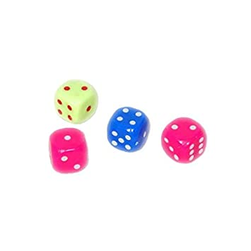 Plastic Spot Dice ( 4 dice) in The Packet