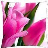 Spring pink - Throw Pillow Cover Case (18