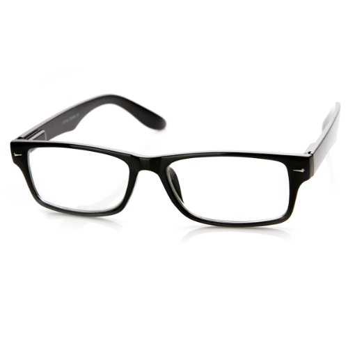 zeroUV - Casual Fashion Horned Rim Rectangular Frame Clear Lens Eye Glasses - Frame Glasses Plastic For Men