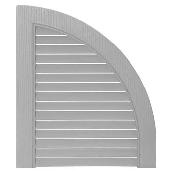 Mid-America 00 97 0002 030 Paintable 14 1/2'' Open Louver Quarter Round Arch Top (Pair)