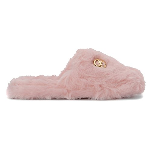 9489b16d31bc7 MICHAEL Michael Kors Women s Jet Set MK Fur Slippers Pink 6 M  Amazon.ca   Shoes   Handbags
