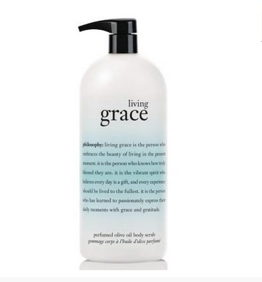 31RU7ajAAxL Philosophy Living Grace Perfumed Olive Oil Body Scrub (32 fl. oz.)