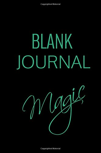 Blank Journal Magic: 6 x 9, 108 Lined Pages (diary, notebook, journal) pdf epub