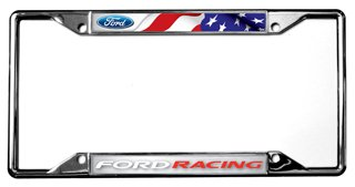 Racing Flags License Plate - Flag / Ford Racing License Plate Frame