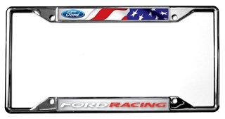 Flag / Ford Racing License Plate Frame