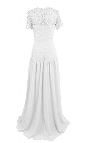 Mother's sera Sunvary Bianco Dress abito gioiello in da elegante sera raso lungo qzwzaFgT4