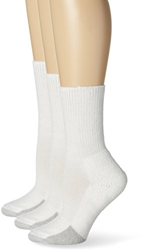Thorlo Women's Tennis Crew Sock 3 Pack, White, 11