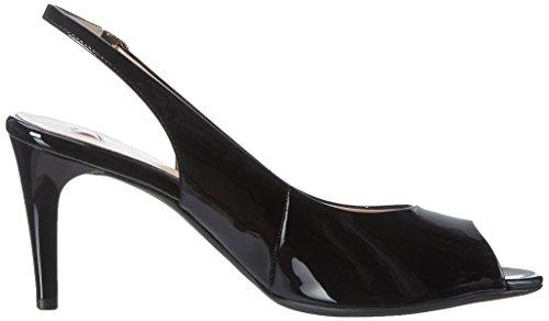 Högl 3-10 7104 0100, Sandalias con Cuña para Mujer Negro (schwarz0100)