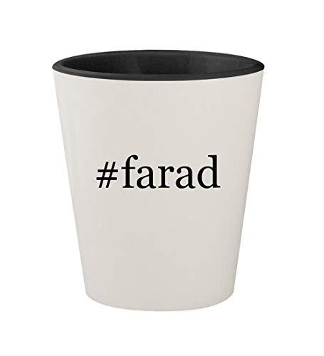 #farad - Ceramic Hashtag White Outer & Black Inner 1.5oz Shot Glass ()