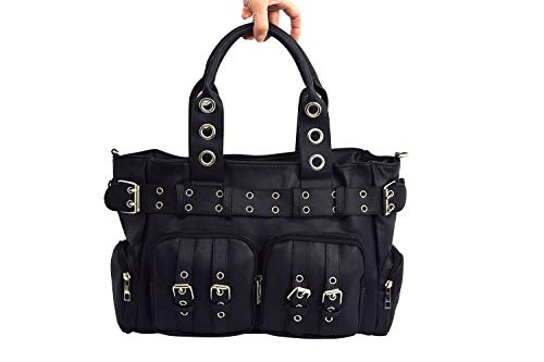 Poizen Industries EVE Bag Gothic Punk Emo Black Gothic Bag With Pockets
