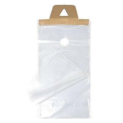 "ClearBags DK4 Door Knob Bag, 9"" x 15"" (9"" x 12"" + Hanger) Bundled (Pack of 1000)"