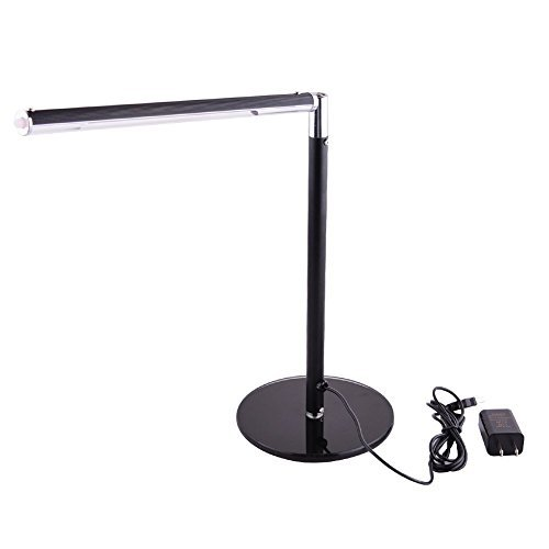 TopOne Desk Lamp, 3 Dimming Levels LED Desk Lamp, Eye-care, Daylight White Table Lamp, Reading Lamps, Bedroom Lamps (Piano Black)