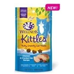 Kittles Chicken and Cranberries Recipe Cat Treats, 2 Ounce -- 14 per case. by Wellness Natural Pet Food