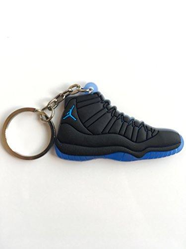 Jordan Retro 11 Gamma Blue Sneaker Keychain Shoes Keyring AJ 23 OG (Jordan Retro Gamma Blue 11)
