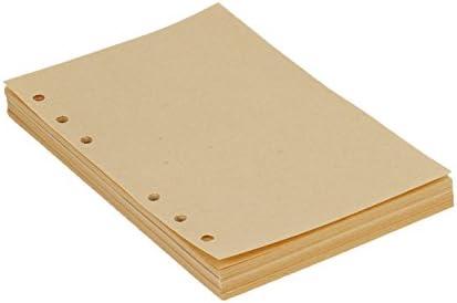 A5 6 Löcher Refill Leeres Papier, 6-Ring Binder 100 Blatt / 200 Seiten für A5 Nachfüllbar Tagebuch Notizbuch Skizzenbuch Journal Einsätz