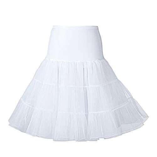 - HARONAR Crinoline Women Underskirt 50's Vintage Rockabilly Petticoat Net skirt 26