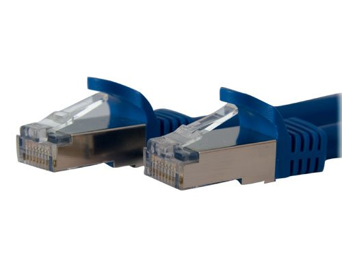 StarTech.com Cat6a Ethernet Cable - 3 ft Network Patch Cable - Blue - Shielded (STP) - Molded Cat 5 Network Cable - Cat 6a Ethernet Cord - 3ft (C6ASPAT3BL)