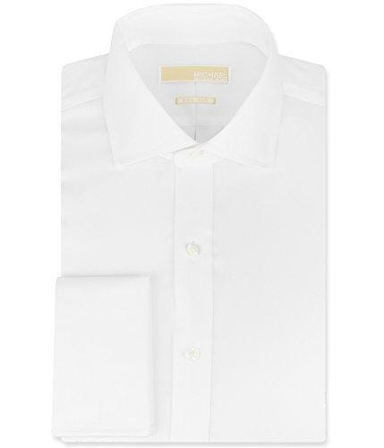 Michael Kors Mens Non Iron Dress Shirt 18 34/35 White