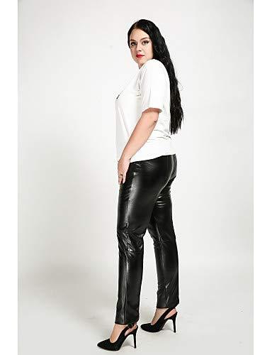 Yfltz Chinos Pantalones Sólido Lindos Mujer La Delgados Del Tamaño De Ann Black BTgBqwr