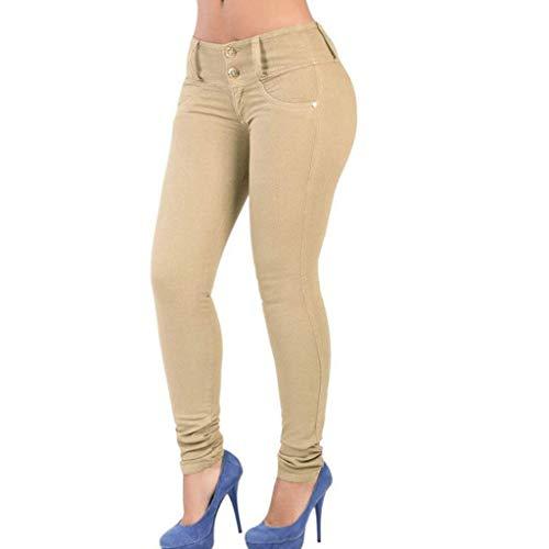 Colore Vita Pantaloni Jeans Matita Dei Casuali Bassa A Rxf Chiaro Donna 5 Della Di ZwqFf