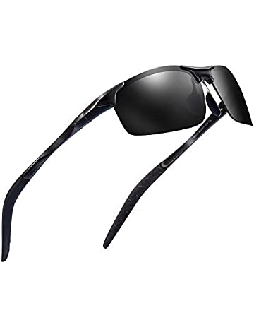 1c17d6f740507 Sports Polarized Sunglasses for Men - Feirdio Mens Sports Glasses Metal  Frame Driving sunglasses 2266 (