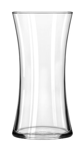 Libbey-Flare-Sidney-Vase-8-Inch-Clear-Set-of-6
