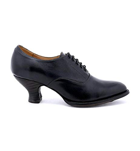 Boot Oak Tree - OAK TREE FARMS Women's Janet Leather Heeled Shoe (8.5 M US, Black Rustic)