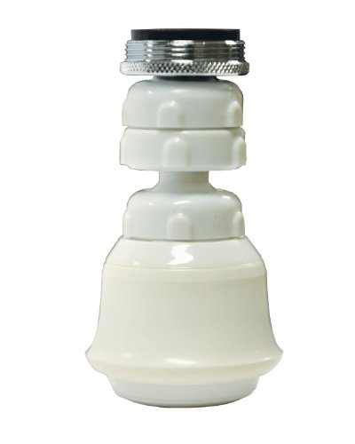 Bath Aerator - Danco, Inc. 10499 Sprayrator, Dual Thread Swivel, White