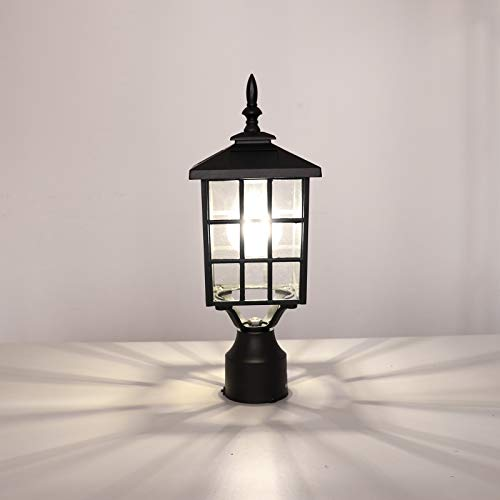 Outdoor Lamp Post Amazon: Kemeco ST4224Q LED Cast Aluminum Solar Post Light Fixture