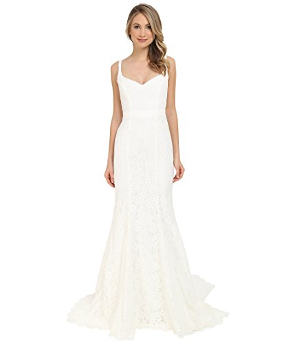 Nicole Miller Women's Janey Lace Gown Ivory 2 ()