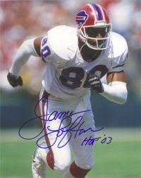 James Lofton Signed Buffalo Bills 8x10 Photograph - Autographed NFL Mini Helmets - James Lofton Signed Buffalo Bills