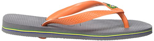 Grey 9490 Multicolore Adulto neon Unisex steel Orange Infradito Brasil Havaianas Logo apqPUU