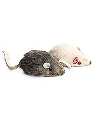 Ethical Plush Mice with Rattle and Catnip Cat Toy, 2-Pack