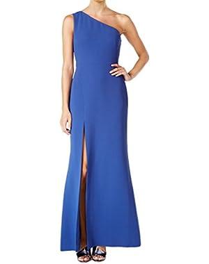 One Shoulder Side Slit Long Gown Dress