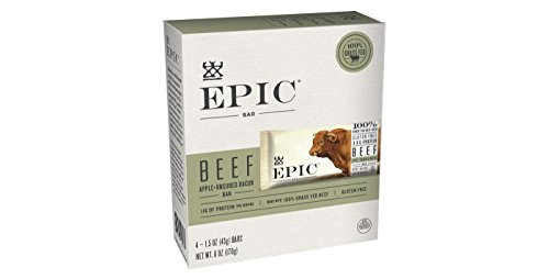 EPIC Beef Apple Uncured Bacon Nutrition Bar 6oz(1.5oz x 4), pack of 1 ()