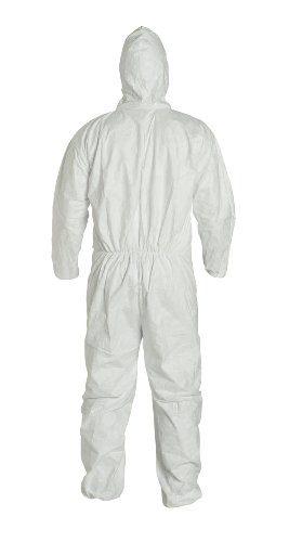 DuPont Tyvek 400 TY127S  Protective Coverall with Respirator-Fit Hood, Disposable, Elastic Cuff by DuPont (Image #1)