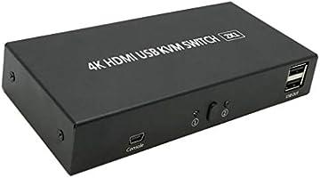Almencla Interruptor HDMI con Control Remoto Caja De Interruptores HDMI Soporte 4K 1080P 2 Puertos USB: Amazon.es: Electrónica