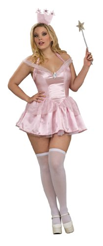 Secret Wishes Wizard of Oz Glinda The Good Witch Costume, Pink, Plus ()