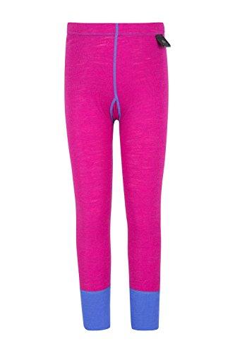 Mountain Warehouse Merino Kids Trousers - Lightweight Childrens Pants Pink 11-12 Years