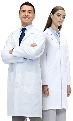 Lab Coat X Laborkittel, Unisex, 100% Baumwolle, Seitenschlitze, Weiß